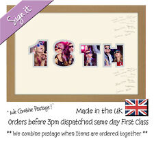 18th Birthday Signing Signature Guest Personalised Photo Frame Photos in a Word