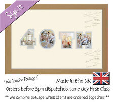 40th Birthday Ruby Wedding Anniversary Personalised Guest Signing Photo Frame