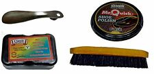 Combo Of Shoe Accessories. Brush, 50 Grms Wax Polish, Steel Shoe On and Shiner