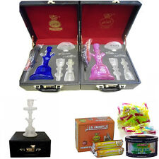 Exclusive Al Fakher Hookah Glass Shisha Pipe Nargila Briefcase with DEAL Pack