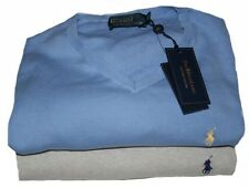 Ralph Lauren Pima Cotton V- Neck Small Pony Pullover Gr.1, 2, 3, 5XB in 2 Farben
