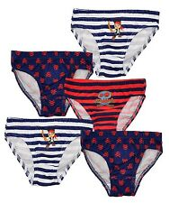 Boys Briefs Underwear 5 Pack Disney Jake And The Neverland Pirates 2-6 Years