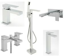 SAGITTARIUS BLADE BATHROOM TAPS CHROME MIXER BASIN BATH SHOWER FILLER SINK LEVER