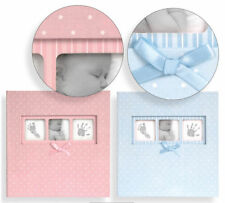 Large Baby Girl/Boy Pink/Blue Ribbon Traditional Photo Album/500 photos 6x4''