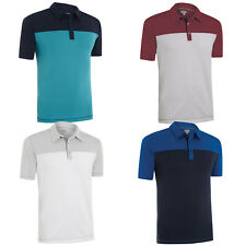 Ashworth EZ-TEC2 Performance Mens Double Knit Single Pocket Golf Polo Shirt Top