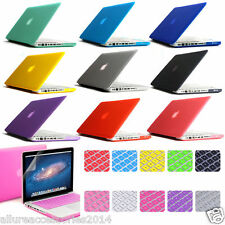 Brand New Rubberized Hard Shell Cases+ Keyboard Skin Cover For Apple MacBook