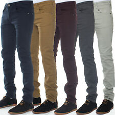 New Mens Enzo Designer Skinny Slim Fit Stretch Chinos Jeans Pants Trousers 28-42