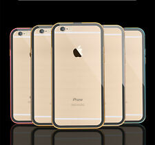 Luxury Metal Frame Bumper + Clear Back Case Cover for Apple iPhone 5 5S 6 Plus