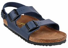 Birkenstock Milano Mens Slide Back Strap Sandals Beach  3 Buckle Straps Navy