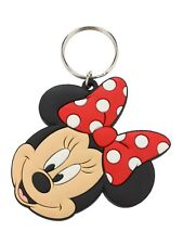 Walt Disney Minnie Mouse Rubber Keychain - NEW & OFFICIAL