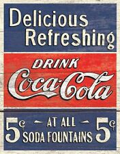 New Coca Cola Always The Real Thing Coke Metal Tin Sign