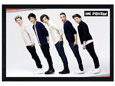 New Black Wooden Framed One Direction Perfect Line Up Poster
