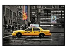 New York City Gloss Black Framed Cab on 7th Avenue Maxi Poster 91.5x61cm