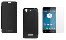 Premium Black Flip Cover with Screen Protector for Micromax Yu Yureka AQ5510