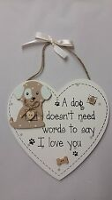 Faithful Pooch Shabby Chic Hanging Plaque-Dog-56216-Wall Plaque-X-Mas Gift