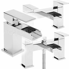 SAGITTARIUS FLOW BATHROOM TAPS CHROME BASIN MIXER BATH SHOWER FILLER SINK MODERN