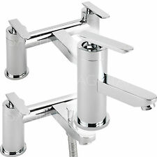 SAGITTARIUS ECLIPSE BATHROOM TAPS CHROME BASIN MIXER BATH SHOWER FILLER SINK NEW