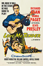"""Love Me Tender"" 1956 Elvis Presley Film Poster Retro A1A2A3A4SIZES"