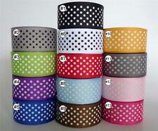 2Yard 10Yard 100Yard Swiss Dot Grosgrain RIBBON 22mm Hair Bow Craft Wholesale