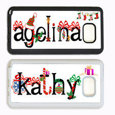 CHRISTMAS PERSONALIZED CUSTOM MONOGRAM PHONE Case For Samsung Galaxy S7 S6 NOTE
