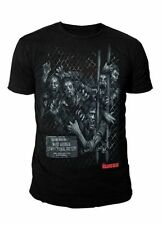The Walking Dead - Zombie Walker Fence Herren T-Shirt Schwarz (Gr.S-XL)