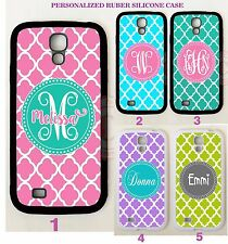 PINK TEAL PURPLE TRELLIS CUSTOM MONOGRAM Case For Samsung Galaxy S9 S8 S7 NOTE 8