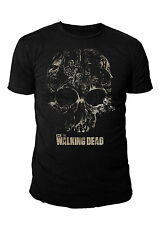 The Walking Dead - Skull Zombie Herren T-Shirt Schwarz (Gr.S-XL)