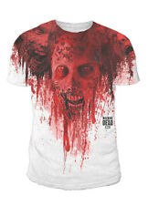 The Walking Dead - Zombie Walker Sublimation Herren T-Shirt Weiss (Gr.S-XL)