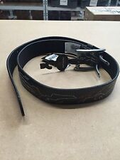 Rip Curl Men's Donuts Black Leather Waist Belt F15