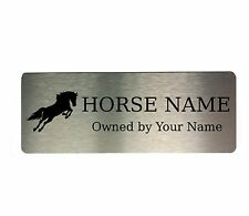 Custom Personalised Name Plate Plaques Horse 2 Pony Stable Door Sign Aluminium