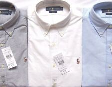 Mens Polo Ralph Lauren Oxford Shirt Cotton w/t Multi Pony Classic Fit RRP £85