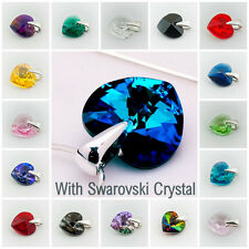 Pendant Swarovski Elements Crystal 10 mm Heart Necklace Chain in GIFT BOX