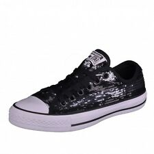 Converse CT Sequin OX  Chucks Damenschuhe All Star Chuck black silver schwarz