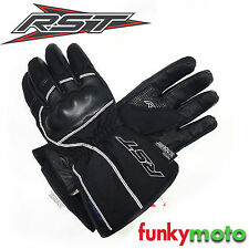 RST SHADOW II 2 WATERPROOF CE APPROVED MOTORCYCLE PROTECTIVE GLOVES BLACK LEATHE
