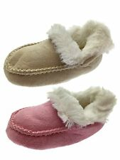Kids Baby Soft Faux Suede Bootee Fur Lined Slippers Booties Shoes Size UK 4-9