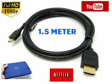 HDMI Cable for Tesco Hudl2 / Hudl Tablet Micro HDMI TV Gold Cord Lead Wire