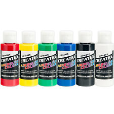 Createx Opaque Airbrush Paint Set 6 2oz Primary Colors - Crafts, Art 5803 - 00