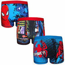 Marvel Comics Spiderman Official Gift 3 Pack Boys Boxer Shorts