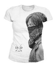 The Walking Dead - Daryl Dixon Sublimation Damen T-Shirt Weiss (Gr.S-XL)