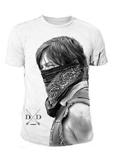 The Walking Dead Daryl Dixon Sublimation Herren T-Shirt Weiss (Gr.S-XL)