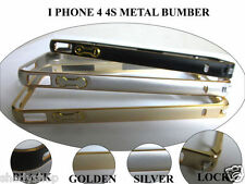 ALUMINIUM METAL BUMPER CASE COVER FOR APPLE IPHONE 4 4S 4 S , COLOUR OPTIONS