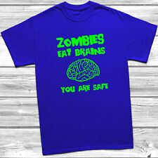 Zombies Eat Brains Adults T-shirt, Mens, Unisex, Kids, Childrens, Funny, Zombies