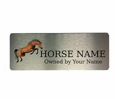 Custom Personalised Name Plate Plaques Horse 5 Pony Stable Door Sign Aluminium