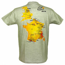 Le Tour de France - T-Shirt Officiel 'Parcours Tour de France 2014' - Gris