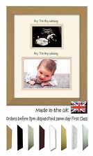 Personalised Name Scan 4x3 6x4 Double Mount Baby Photo Frame by Photos in a Word