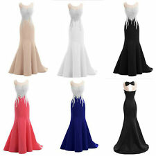 Stunning Mermaid Prom Dresses Brand New Long Satin Formal Evening Prom Ball Gown