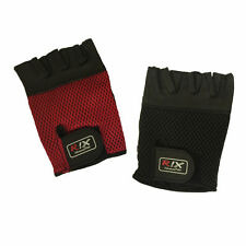 Rix Crochet Leather Cycling Gloves Fingerless Half Finger Bike Bicycle Gym Mitts
