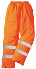 Portwest Hi Vis Yellow Orange Water Resistant Work Rain Trousers High XS - 4XL