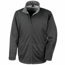 Mens Result Softshell Breathable Windproof Microfleece Lined Jacket