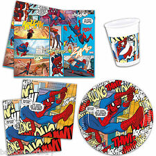 Ultimate Spider-Man Comic Book Art Party Plates Cups Napkins Tableware Listing